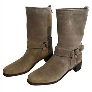 Stuart weitzman mid calf bootie w/ straps size 8